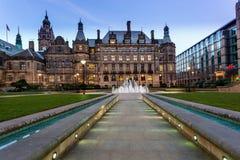 Sheffield urzędu miasta ścieżka Zdjęcia Royalty Free