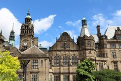Sheffield urząd miasta Zdjęcia Royalty Free