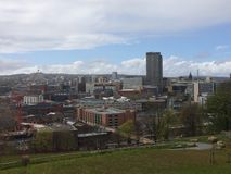Sheffield. View from above of Sheffield Stock Image