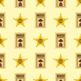 Shefiff badge star american western authority seamless pattern background vector illustration. vector illustration