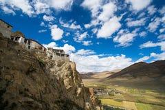 Shegar Dzong (μοναστήρι Chode) σε Tingri στο Θιβέτ, Κίνα Στοκ Εικόνες