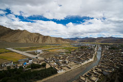 Shegar Dzong (μοναστήρι Chode) σε Tingri στο Θιβέτ, Κίνα Στοκ εικόνες με δικαίωμα ελεύθερης χρήσης