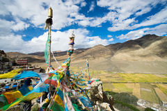 Shegar Dzong (μοναστήρι Chode) σε Tingri στο Θιβέτ Στοκ φωτογραφία με δικαίωμα ελεύθερης χρήσης