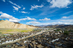 Shegar Dzong (μοναστήρι Chode) σε Tingri στο Θιβέτ Στοκ Φωτογραφίες