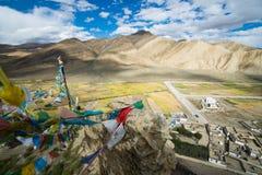 Shegar Dzong (monastério de Chode) em Tingri em Tibet Imagem de Stock