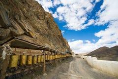 Shegar Dzong (monastério de Chode) em Tingri em Tibet, China Imagem de Stock