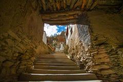 Shegar Dzong (monastero di Chode) in Tingri nel Tibet, Cina fotografie stock