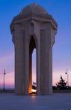 Shehidler-xiyabani Denkmal in Baku Lizenzfreie Stockfotografie