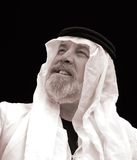 The Sheik - A Black and White Portrait Royalty Free Stock Image