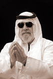 The Sheik Gives His Blessing - A Portrait. The Sheik Gives His Blessing Stock Photography