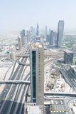 Sheik zayed road and downtown photographed from the al hikma tower rooftop, uae, dubai Stock Photography