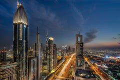 Sheik Zayed Road in Dubai Royalty Free Stock Image
