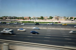 Sheik Zayed Road in Dubai Stock Photo