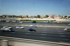 Sheik Zayed Road in Dubai Stock Photo