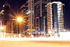 Sheik Zayed road southbound Royalty Free Stock Images