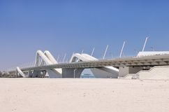 Sheikh γέφυρα Αμπού Ντάμπι Zayed Στοκ εικόνα με δικαίωμα ελεύθερης χρήσης