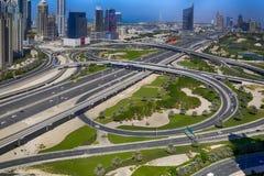 Sheikh γεφυρών No5 δρόμος Zayed Στοκ Εικόνες