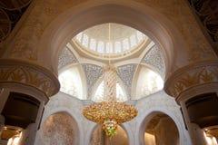 Sheikh μεγάλο μουσουλμανικό τέμενος Zayed Στοκ Εικόνες