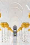 Sheikh μεγάλο μουσουλμανικό τέμενος Zayed, Αμπού Ντάμπι, Ηνωμένα Αραβικά Εμιράτα Στοκ εικόνες με δικαίωμα ελεύθερης χρήσης