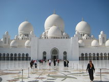 Sheikh μεγάλο μουσουλμανικό τέμενος Zayed στο Αμπού Νταμπί Στοκ φωτογραφία με δικαίωμα ελεύθερης χρήσης