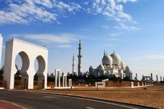Sheikh μεγάλο μουσουλμανικό τέμενος Zayed στο Αμπού Νταμπί Στοκ Εικόνα