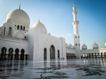 Sheikh μουσουλμανικό τέμενος Zayed, Αμπού Ντάμπι Ε.Α.Ε. Στοκ Φωτογραφία