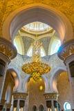 Sheikh μουσουλμανικό τέμενος Zayed, Αμπού Ντάμπι, Ηνωμένα Αραβικά Εμιράτα Στοκ Φωτογραφία