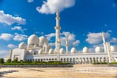 Sheikh μουσουλμανικό τέμενος Zayed, Αμπού Ντάμπι, Ηνωμένα Αραβικά Εμιράτα Στοκ Εικόνες