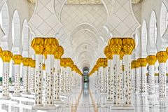 Sheikh μουσουλμανικό τέμενος Zayed, Αμπού Ντάμπι, Ηνωμένα Αραβικά Εμιράτα Στοκ εικόνα με δικαίωμα ελεύθερης χρήσης