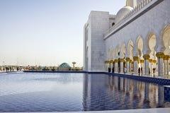 Sheikh μουσουλμανικό τέμενος Zayed, Αμπού Νταμπί Στοκ Φωτογραφία