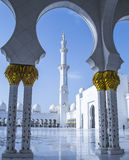 Sheikh μουσουλμανικό τέμενος Αμπού Νταμπί Zayed Στοκ εικόνα με δικαίωμα ελεύθερης χρήσης