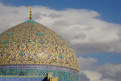 Sheikh μουσουλμανικό τέμενος Lotfollah στο τετράγωνο naghsh-ε Jahan, Ισφαχάν, Ιράν στοκ εικόνες