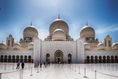 Sheikh μουσουλμανικό τέμενος Zayed, Αμπού Ντάμπι, Ε.Α.Ε. Στοκ εικόνες με δικαίωμα ελεύθερης χρήσης