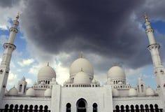 Sheikh μουσουλμανικό τέμενος Zayed - Αμπού Ντάμπι, Ηνωμένα Αραβικά Εμιράτα Στοκ Εικόνες