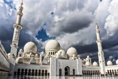 Sheikh μουσουλμανικό τέμενος Zayed, Αμπού Ντάμπι, Ηνωμένα Αραβικά Εμιράτα Στοκ φωτογραφία με δικαίωμα ελεύθερης χρήσης