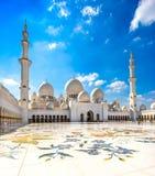 Sheikh μουσουλμανικό τέμενος Zayed, Αμπού Ντάμπι Στοκ Εικόνες