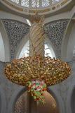 Sheikh μουσουλμανικό τέμενος Zayed στο Αμπού Νταμπί Στοκ φωτογραφία με δικαίωμα ελεύθερης χρήσης