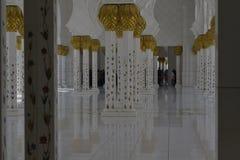Sheikh μουσουλμανικό τέμενος Zayed στο Αμπού Νταμπί Στοκ Εικόνα