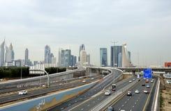Sheikh δρόμος Zayed Στοκ Φωτογραφίες