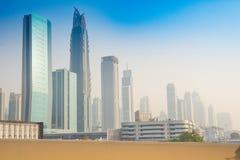 Sheikh του Ντουμπάι οδικά κτήρια Zayed - 15 09 2017 Tomasz Ganclerz Στοκ Εικόνες