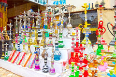 Sheikh EL Sharm, Αίγυπτος - 13 Απριλίου 2017: Το hookah στο κατάστημα δώρων Στοκ Φωτογραφία