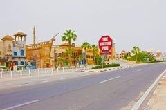 Sheikh EL Sharm - 12 Απριλίου 2017: Το βρετανικό μπαρ έξω από το μέτωπο χωρίς ανθρώπους Στοκ Εικόνες