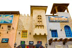 Sheikh EL Sharm - 12 Απριλίου 2017: Το βρετανικό μπαρ έξω από το μέτωπο χωρίς ανθρώπους Στοκ Εικόνα