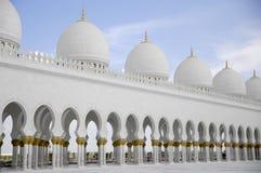 sheikh för moské för abualdhabi zayed nahyan Arkivfoton