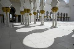 sheikh för moské för abualdhabi zayed nahyan Arkivbild