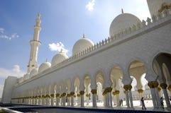 sheikh för moské för abualdhabi zayed nahyan Arkivfoto