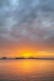 Sheikh Isa Bin Salman causeway Bridge during dusk, HDR Stock Photos