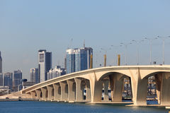 Sheikh Khalifa Bridge in Abu Dhabi Royalty Free Stock Images