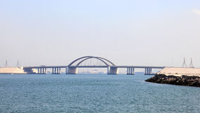 Sheikh Khalifa Bridge in Bahrain Royalty Free Stock Photography