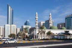 Sheikh Khalifa Mosque em Abu Dhabi Foto de Stock Royalty Free
